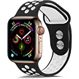 TheaPro Replacement Silicone Band Compatible with Apple Watch 42mm/44mm, Soft Silicone Adjustable Sport Replacement Straps fo