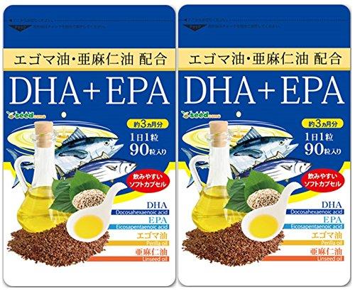 亜麻仁油 エゴマ油配合 DHA+EPA (約6月分/180粒...