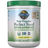 Garden of Life Raw Organic Perfect Food Green Superfood Juiced Greens Powder - Original Stevia-Free, 30 Servings, Non-GMO, Gl