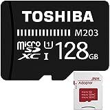 東芝 Toshiba 超高速UHS-I microSDXC 128GB + JNHオリジナルSD アダプター + 保管用クリアケース [並行輸入品]
