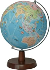 昭和カートン 地球儀 球径21cm 21-HAW 行政図 絵入りひらがなタイプ 木製台座