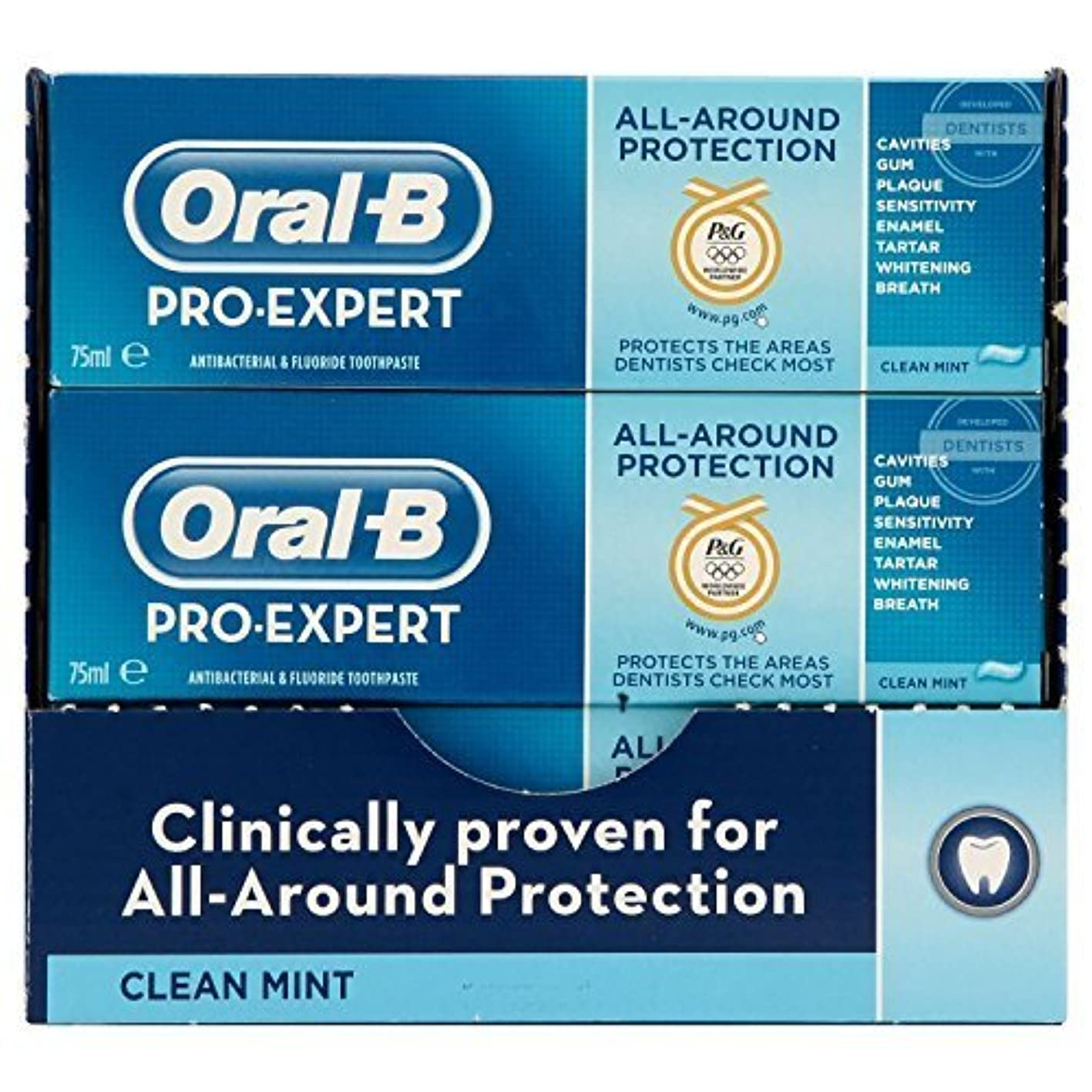 コークス修復州Oral-B Pro-Expert All-Around Protection Clean Mint Toothpaste 75 ml (Pack of 8) by PG