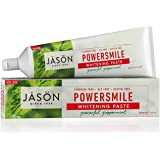 JASON Powersmile Antiplaque and Whitening Powerful Peppermint Toothpaste, 170g