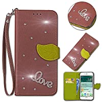 LG G7 ThinQ Case,[ Shock Absorbent ] PUレザー PU Leather Kickstand Wallet Cover Durable Flip Case for LG G7 ThinQ Brown