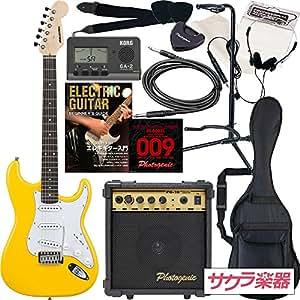 SELDER エレキギター ストラトキャスタータイプ ST-16 初心者入門13点セット /イエロー(9707001081)