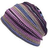 (カジュアルボックス)CasualBox MESH カラー デザインワッチ フリーサイズ メッシュ 夏 サマーニット帽 帽子 charm チャーム (パープル)