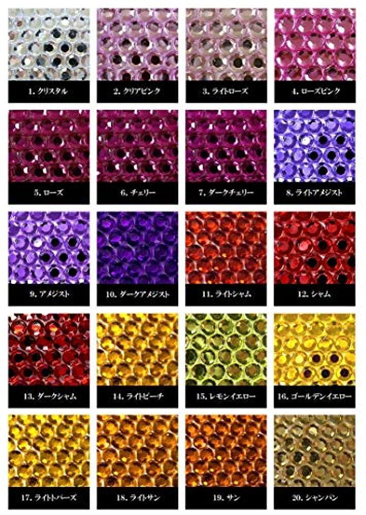 大学辞書ピッチアクリル製ラインストーン ダイヤカット型6mm~10mm(1) (10mm(50), シャム)