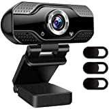 Webcam With Microphone, 1080P HD Camera USB Computer Webcam Plug And Play For Online Teaching/Video Conferencing/Recording An