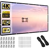 Projector Screen 150 inch 16:9 HD Foldable Anti-Crease Portable Projection Movies Screen for Home Theater Outdoor Indoor Supp