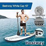 Bestway スタンドアップパドルボード sup サーフボード White Cap 10Feet ソフトボード 11Feet ロングサーフボード SUP ボード 空気式 持ち運び収納便利 収納バッグ付 セット6点 BT4