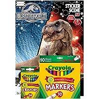 Jurassic World Sticker Scene Plus Book toカラーwith 3ステッカーシーン、over 30ステッカー、24 ct Crayolaクレヨンand 10 ct Crayolaマーカーby BT
