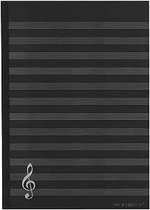 【180°水平開きノートナカプリバイン】音楽ノート12段2冊セット