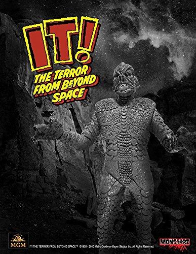 Monstarz モンスターズ/ 恐怖の火星探検: ザ・テラー 火星の吸血獣 3.75インチ レトロ アクションフィギュア ブラック&ホワイト ver