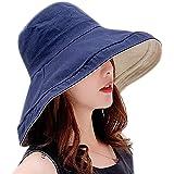UVカット 帽子 レディース つば広 小顔効果 日よけ帽子 紫外線対策 2way マジックテープ調節 折りたたみ 携帯便利 女優帽 軽量 大きいサイズ 自転車