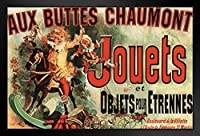 proframes Aux ButtesショーモンJouets Jules Cheretアートプリントフレーム入りポスター12 x 18