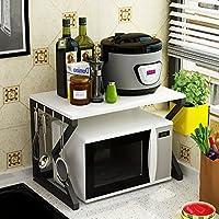 WENZHE キッチン収納りキッチンラック収納棚キッチンラックワゴンオーブンラック 多機能 座って、 2層、 57 * 40 * 37センチメートル (色 : H h)