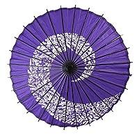 よさこい 踊り傘 和傘 装飾用 長傘 手開き 藤 青 28本骨 舞踏傘 173189-02