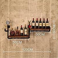ワインラック/ハンギングレッドワインカップホルダー/吊り下げガラスホルダー/クリエイティブホームバー/ワインラックハンギングガラスホルダー (色 : A)