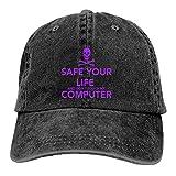 ADM デニム帽子 ユニセックスキャップ 大人 人気のマイセーフ 七色可選 変色変形が無い