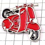 限定 レア ピンバッジ ベスパ赤スクーター二輪バイク一台 ピンズ フランス