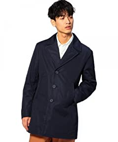 Cotton Polyester Single Breasted Coat 1125-133-5315: Navy