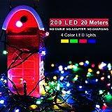 クリスマス Morpilot LEDライト イルミネーション 20m 200球 ストリングライト 飾りライト 夜間 室内 防水