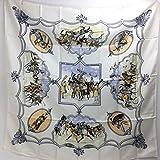 エルメス スカーフ 馬 (エルメス)HERMES カレ90 ムガル王朝の馬 スカーフ シルク100% レディース 新品同様 中古