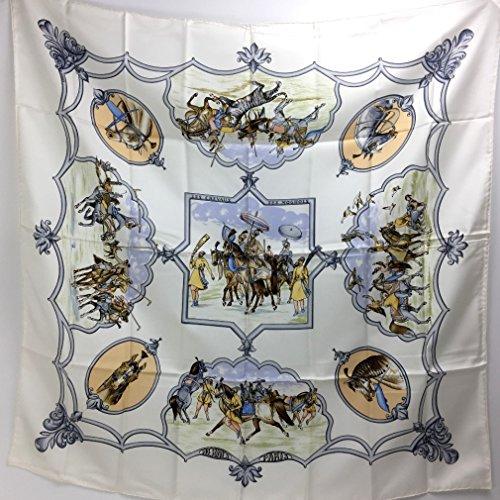 (エルメス)HERMES カレ90 ムガル王朝の馬 スカーフ シルク100% レディース 新品同様 中古