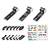 DS. DISTINCTIVE STYLE Road Tape 5 Meters DIY Reusable Black Road Sticker for Kids Play Tape Road with Straight Curve Track