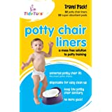 Tidy Tots Disposable Potty Chair Liners Travel Pack XL 32 Liners and 32 SuperAbsorbent Pads 1 Pack