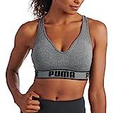 PUMA Women's Solstice Seamless Sports Bra, Medium Heather