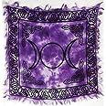 (1, Purple) - 1 X Triple Moon Altar Cloth 46cm x 46cm