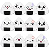 Dulphee Guitar Picks White Sushi Rice Balls Pattern Guitar Picks Classical Triangle 0.96mm Heavy Guitar Plectrums 12 Pack for