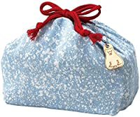 竹中 日本製 巾着袋 デニム Lサイズ ライトブルー 10×29×19 T-56473