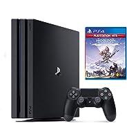 PlayStation 4 Pro ジェット・ブラック 1TB + Horizon Zero Dawn Complete Edition セット【Amazon.co.jp特典】オリジナルカスタムテーマ (配信)