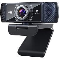 ウェブカメラ フルHD 1080P 60fps Webカメラ 200万 マイク内蔵 100°超広角 自動光補正 60 f…