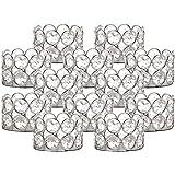 VINCIGANT Silver Tea Light Candle Holders Set of 12 Silver
