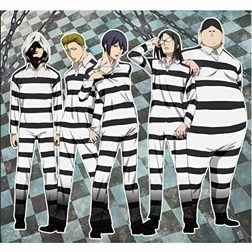 G-beanbang コスプレ衣装 コスチューム 監獄学園(プリズンスクール)囚人服風 オールインワン (L)