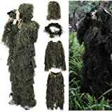 OUTERDO Woodland and Forest Design Ghillie Suit Military Leaf Hunting Camo Tactical Camouflage Clothing Ghillie Suit Free Size
