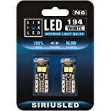 SiriusLED Extremely Bright 5730 Chipset LED Bulbs for Car Interior Lights License Plate Dome Map Side Marker Door Courtesy We