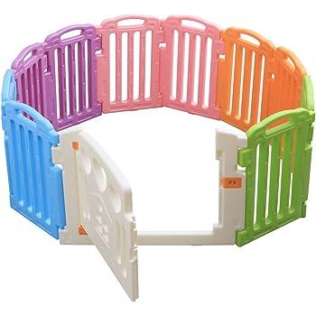 ベビーサークル 11枚パネル ドア付き ロック付き 6ヶ月~3歳半頃対象 ベビーアイランド 88-818