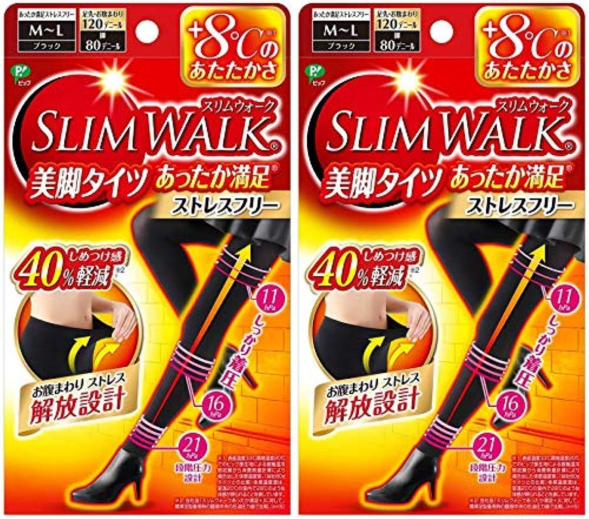 チョップマキシムインタビュー【2個セット】 スリムウォーク (SLIM WALK) 美脚タイツ あったか満足 おそと用 M~Lサイズ