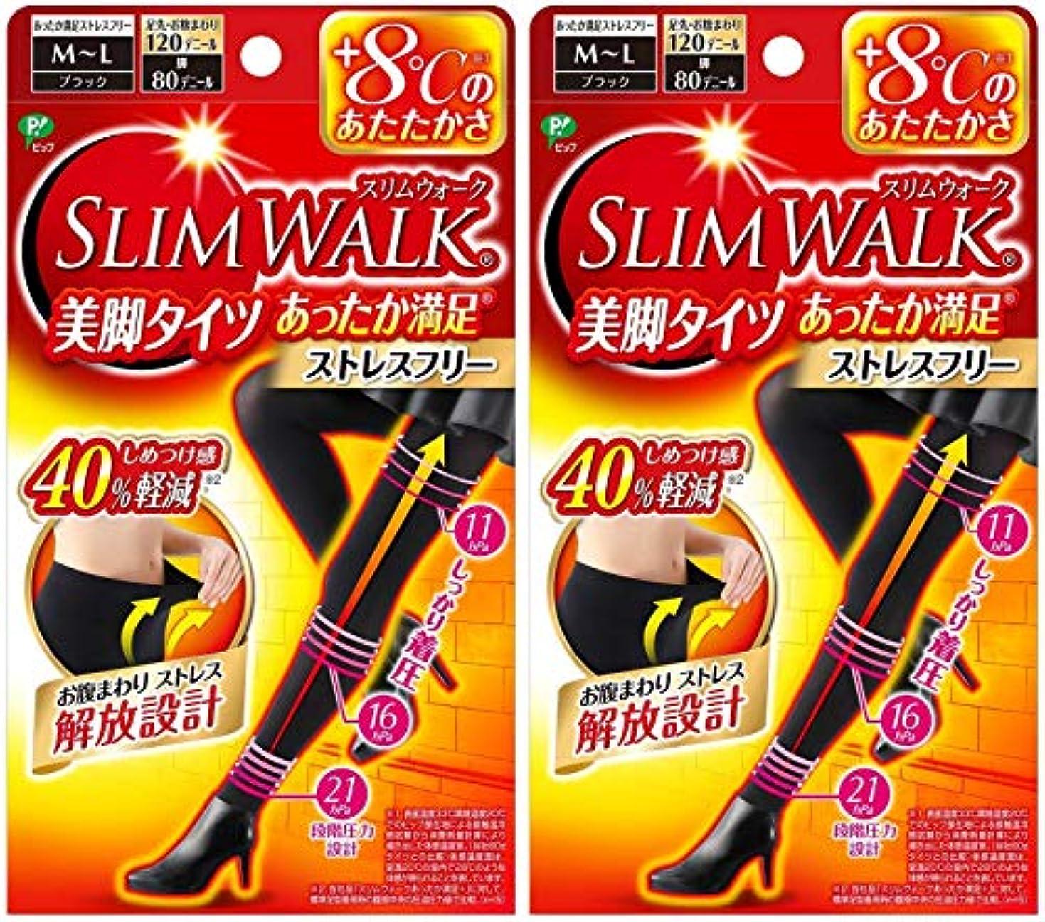 ロンドンホスト大砲【2個セット】 スリムウォーク (SLIM WALK) 美脚タイツ あったか満足 おそと用 M~Lサイズ
