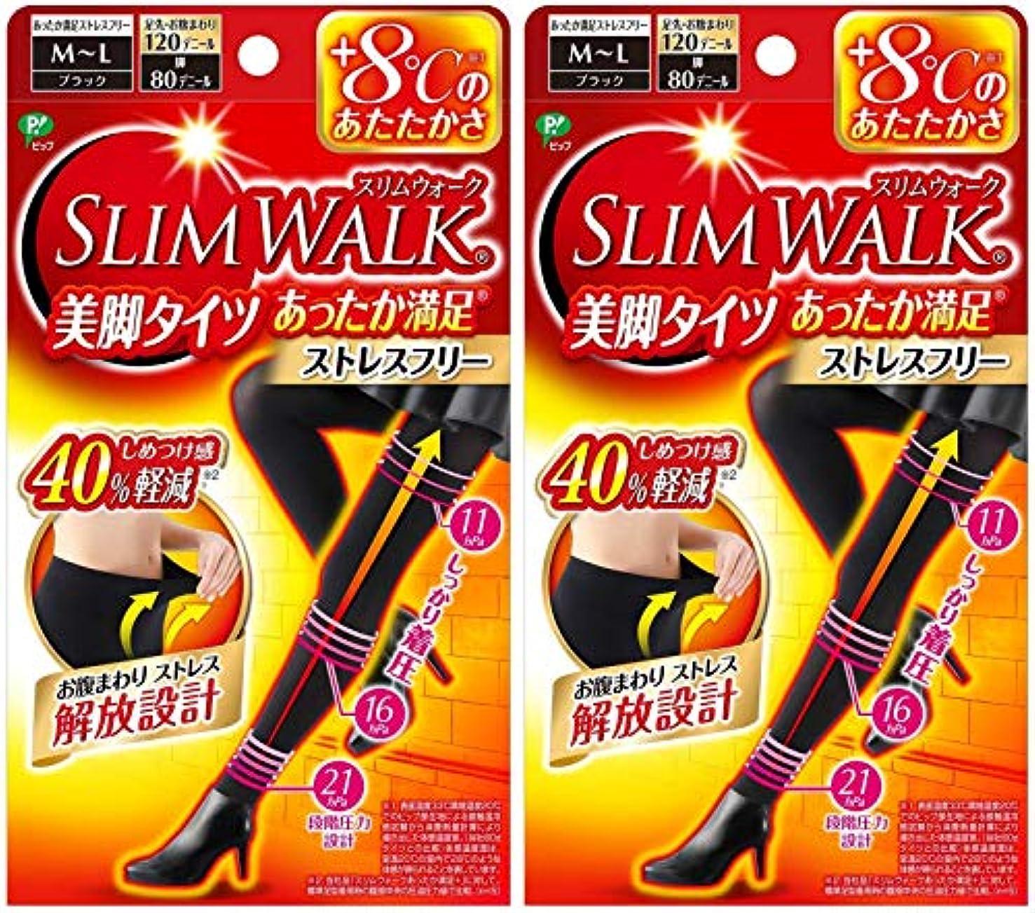 宇宙の鑑定ジャニス【2個セット】 スリムウォーク (SLIM WALK) 美脚タイツ あったか満足 おそと用 M~Lサイズ