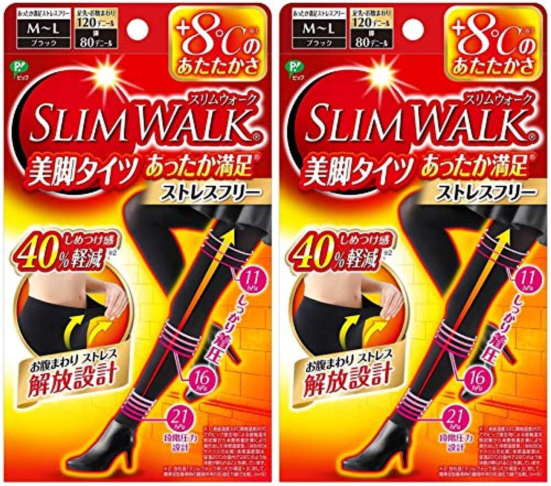 ワインステージ自明【2個セット】 スリムウォーク (SLIM WALK) 美脚タイツ あったか満足 おそと用 M~Lサイズ