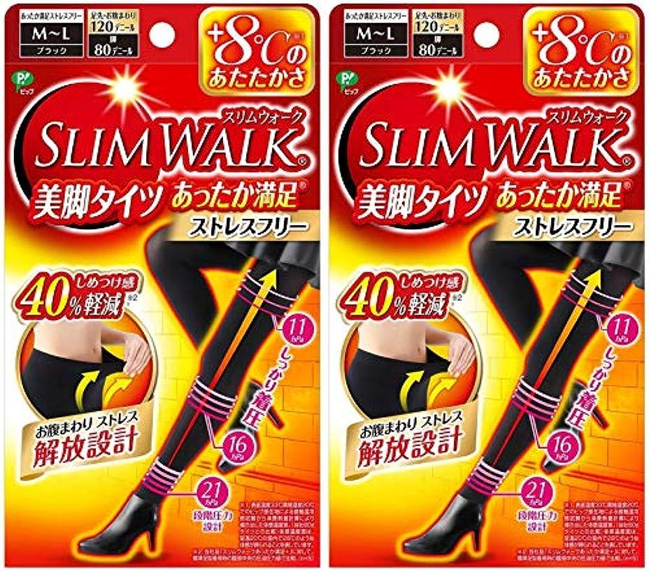 シェーバーシンクエコー【2個セット】 スリムウォーク (SLIM WALK) 美脚タイツ あったか満足 おそと用 M~Lサイズ
