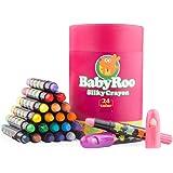 JarMelo JA90442 Silky Washable Crayon Baby Roo 24 Colors Craft
