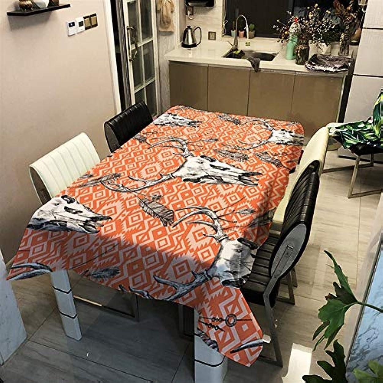 早める革命偽善撥水 テーブルクロス 防水ポリエステルオレンジ色のパターン 洗える (Color : 9, Size : 90x90cm)