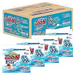【ケース販売】グーン 肌にやさしいおしりふき 詰替用 70枚×12個 (840枚)