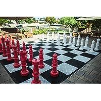 megachess Giantチェスセット – レッドandホワイト – プラスチック – 37インチKing